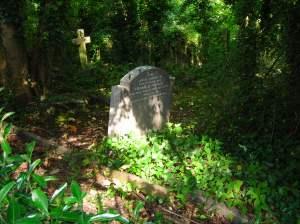 A restul grove in Highgate cemetery, north London