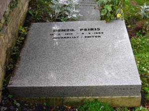 A simple marker for Denzil Peiris, journalist - editor