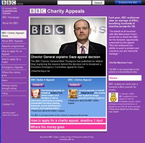 BBC appeals and charity page