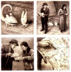 Illustrations from Shaun Tan's The Arrival