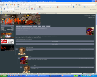 The Furaffinity site - click to check PGA warning