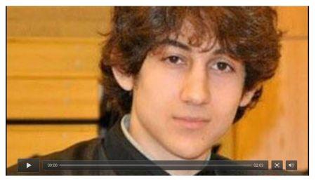 Jahar Tsarnaev from a Boston Globe video