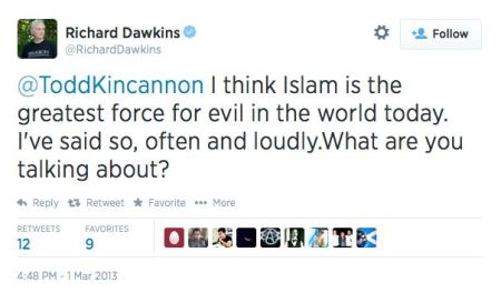Dawkins on Islam greatest evil
