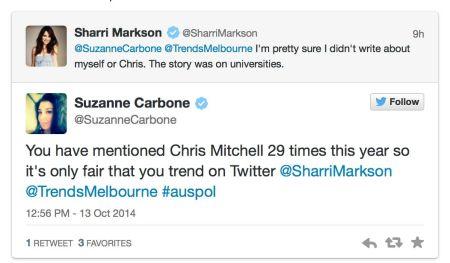 markson tweet