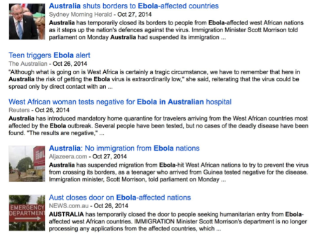 Scott Morrison is keeping Ebola under lock and key