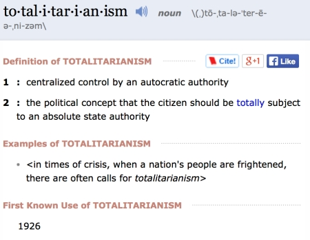 totalitarian - definition