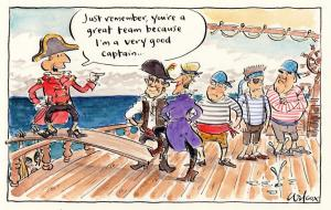 Another fine mess the captain's got us into. Tx Cathy Wilcox