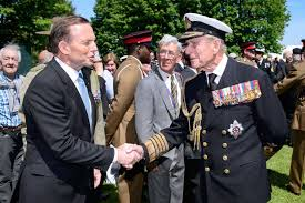 Tony Abbott and his hero..an old decrepit symbol of empire