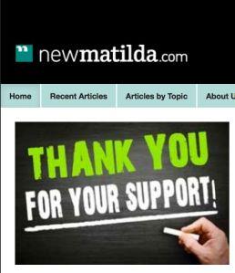 new matilda thanks