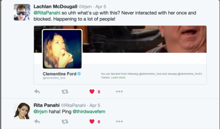 Pahani reply to McDougall 5 April re Clementine Ford