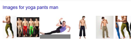 No, not this yoga pants man