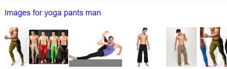 No, not this yoga pants man
