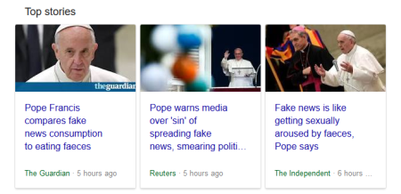 Does the Pope shit in the woods? Probably, and wipes his arse with copies of Il Globo