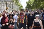muslim in crowd