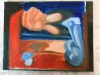 orange blue underpainting 1